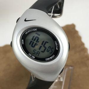 Nike Digital Sports Watch Black Silver